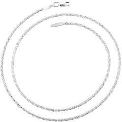 6300-22 | 1.3mm Silver Rope Chain Necklace 22