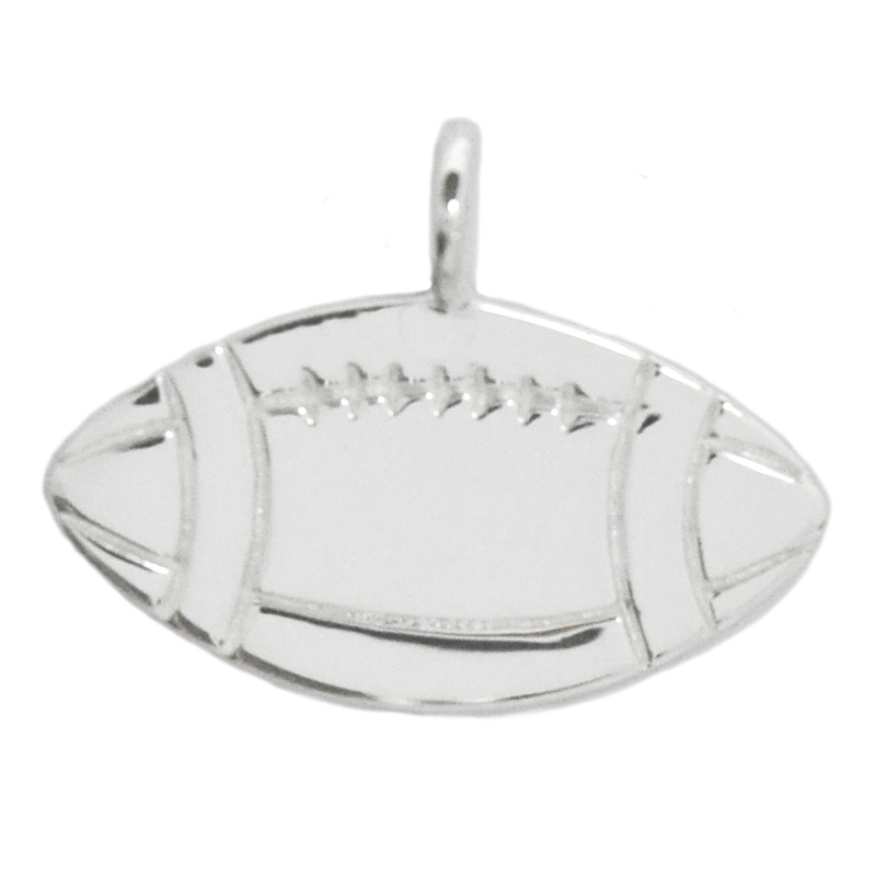 8004 | Sterling Silver Pendant - Football