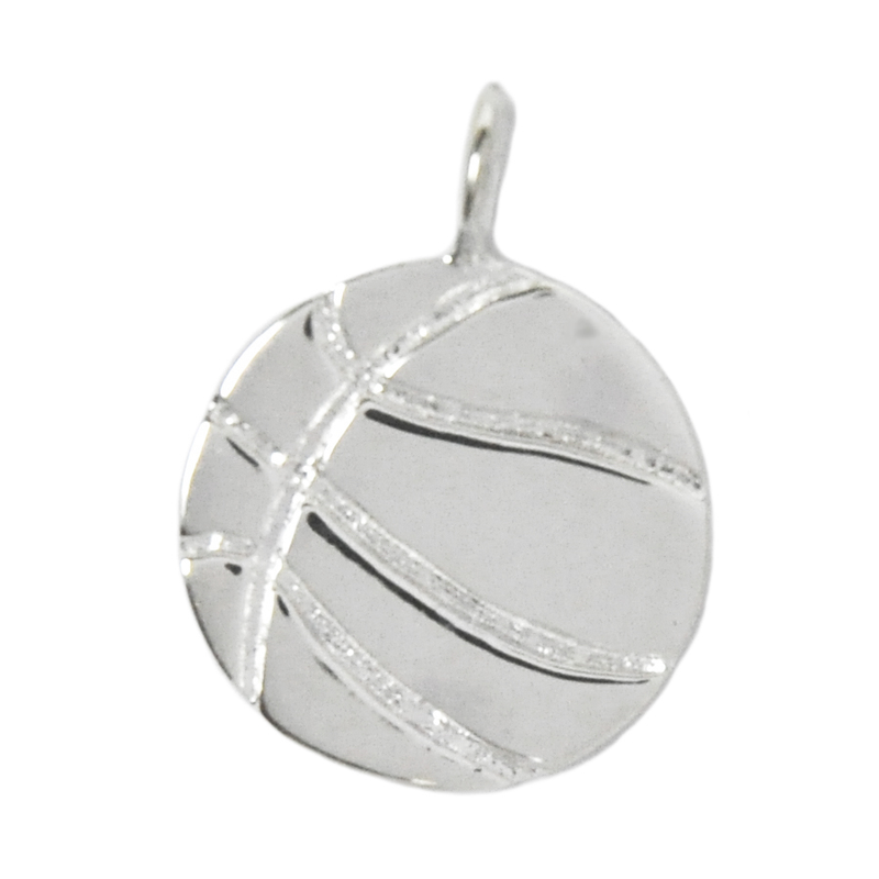 8005 | Sterling Silver Pendant - Basketball