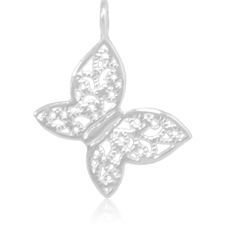8023 | Sterling Silver Pendant - Butterfly