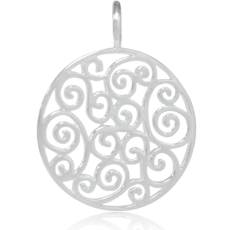 8026 | Sterling Silver Pendant - Filigree Circle