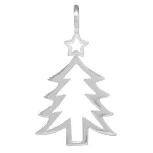 8037 | Sterling Silver Pendant - Christmas Tree