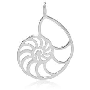 8038 | Sterling Silver Pendant - Nautilus Shell
