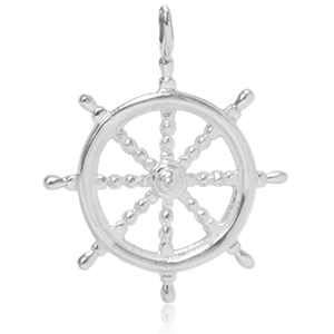 8039 | Sterling Silver Pendant - Nautical Wheel