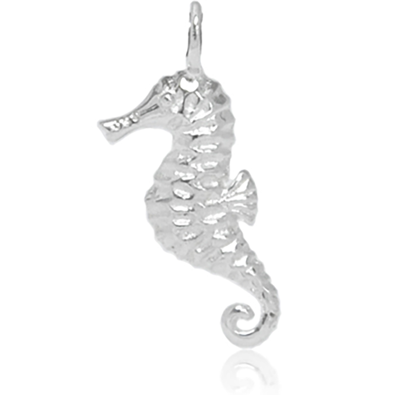 8040 | Sterling Silver Pendant - Seahorse