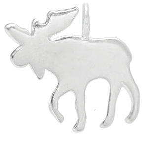 8042 | Sterling Silver Pendant - Moose