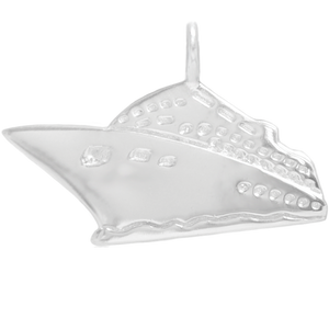8046 | Sterling Silver Pendant - Cruise Ship