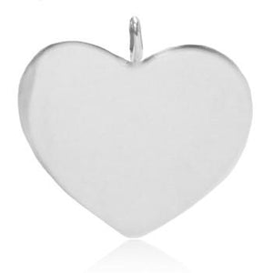 8048 | Sterling Silver Pendant - Monogrammable Heart