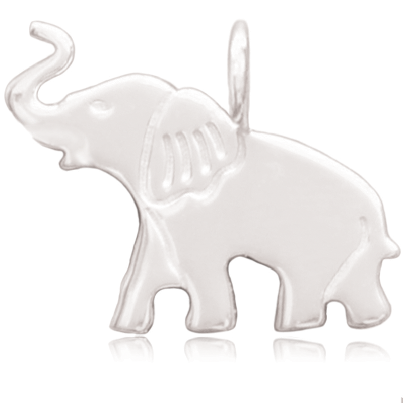 8052 | Sterling Silver Pendant - Elephant