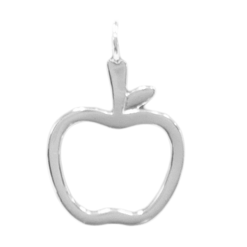 8057 | Sterling Silver Pendant - Apple
