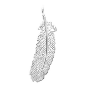 8060 | Sterling Silver Pendant - Feather