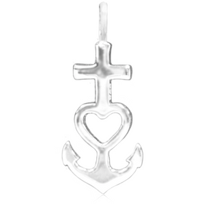 8077 | Sterling Silver Pendant – Faith Hope Charity