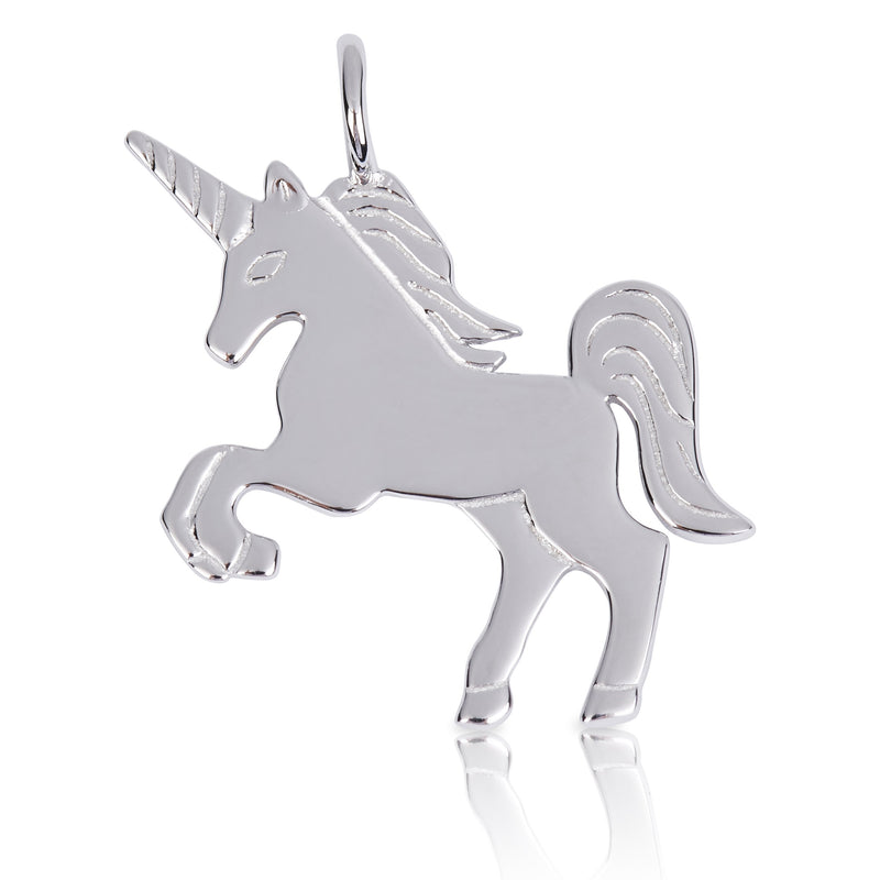 8080 | Sterling Silver Pendant – Unicorn
