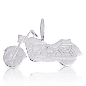 8085 | Sterling Silver Pendant – Motorcycle