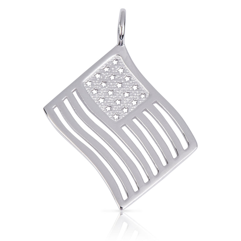 8087 | Sterling Silver Pendant – American Flag