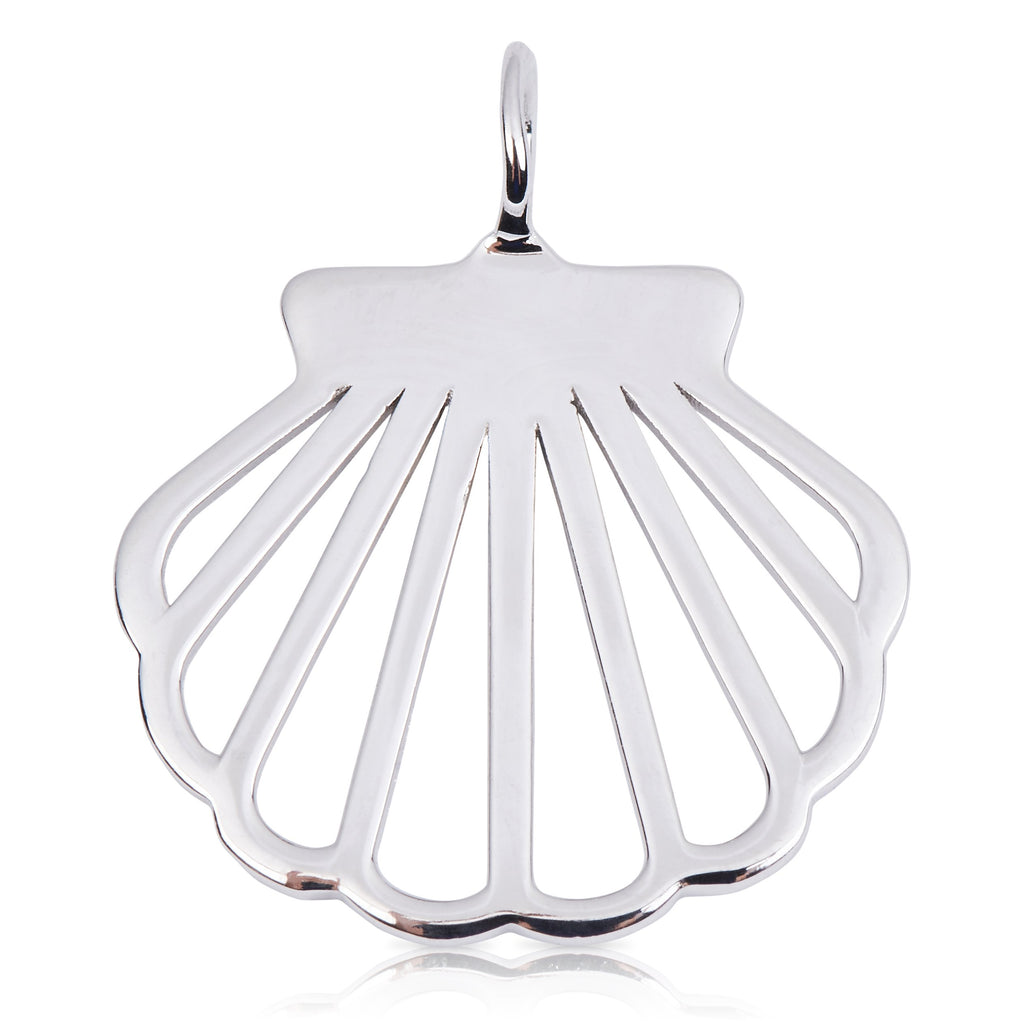 8090 | Sterling Silver Pendant – Clam Shell