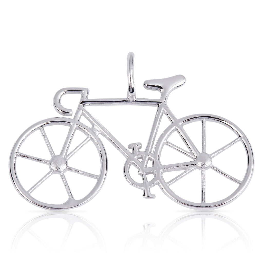 8092 | Sterling Silver Pendant – Bicycle