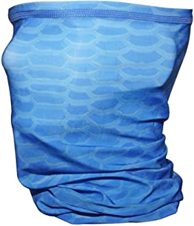Hook & Tackle Face Shield Buff, Camo Scales, Blue Larimar