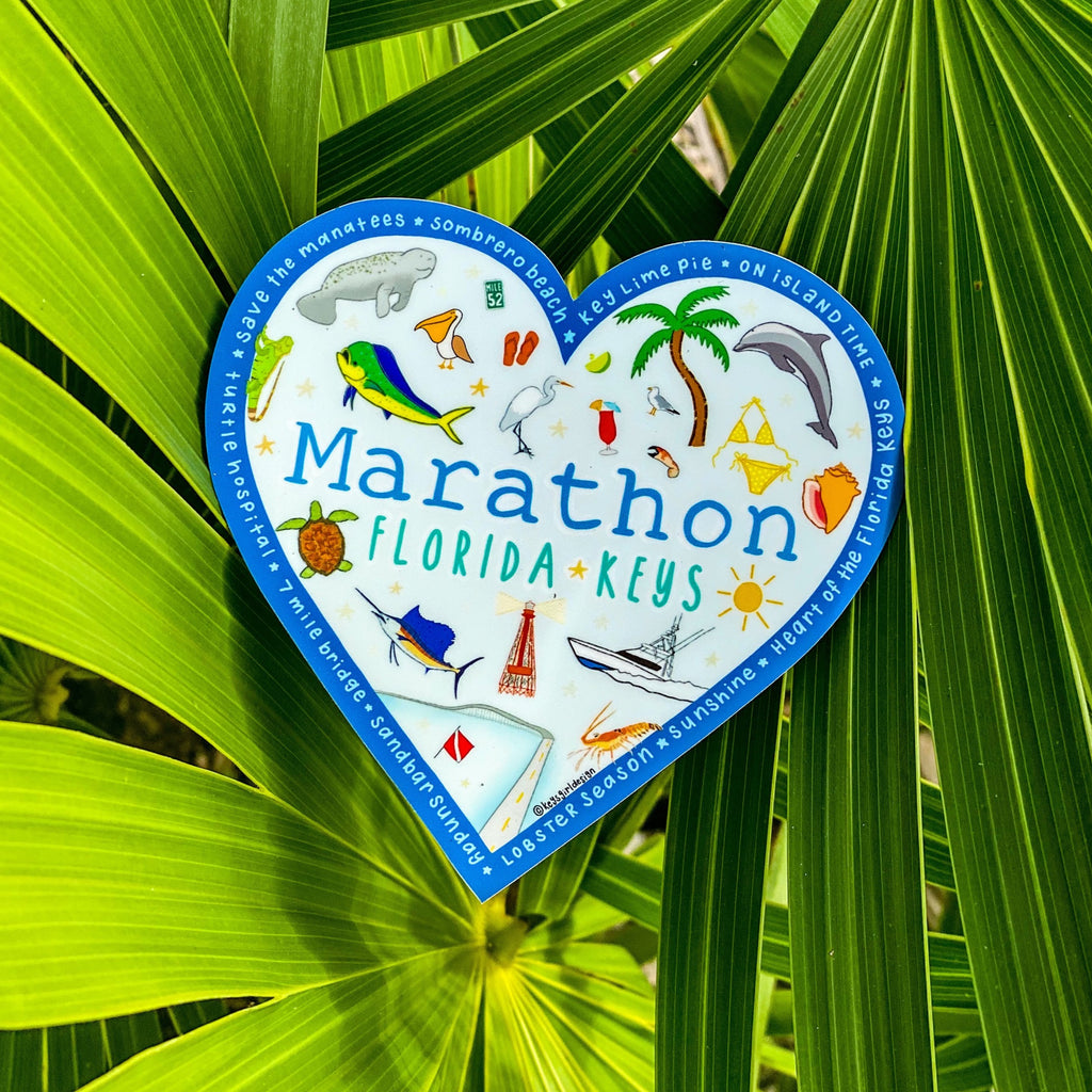 Marathon Sticker Heart