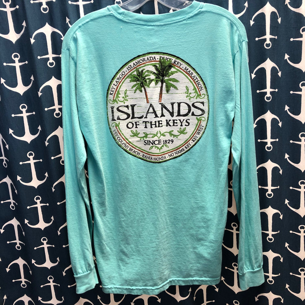 Islands of the Keys Unisex Long Sleeve T-Shirt, CM Blue