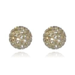 CB1002 | Crystal Ball Stud Earring - Light Golden Topaz