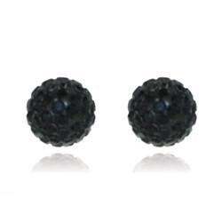 CB1003 | Crystal Ball Stud Earring - Jet Black
