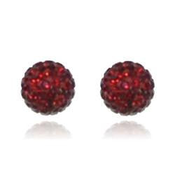 CB1010 | Crystal Ball Stud Earring - Siam Red