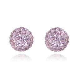 CB1021 | Crystal Ball Stud Earring - Light Pink