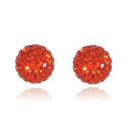 CB1022 | Crystal Ball Stud Earring - Orange Hyacinth