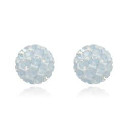 CB1031 | Crystal Ball Stud Earrings - White Opal