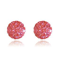 CB1032 | Crystal Ball Stud Earrings - Coral