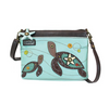 Chala 2 Turtles Mini Crossbody, Light Blue