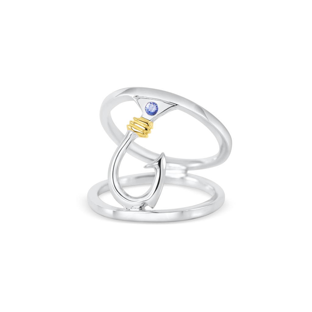 Nauti Girl Double Hook Ring