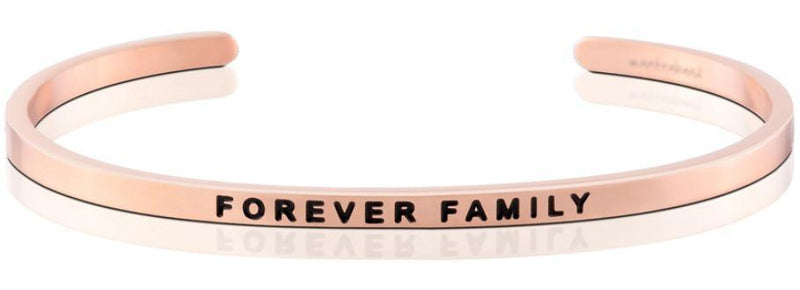 Mantraband Cuff Forever Family, Rose Gold