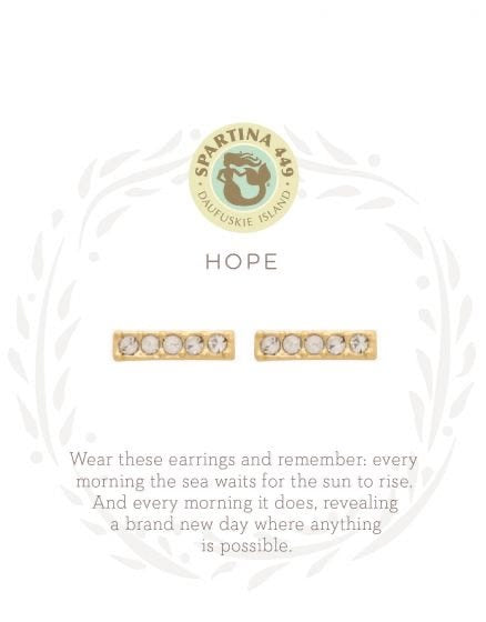 Spartina Gold Post Hope Bar Earrings