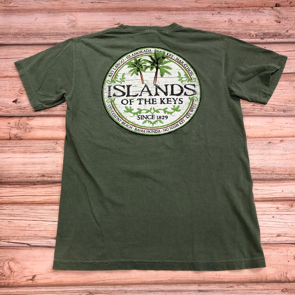 Islands of the Keys T-Shirt, Moss Green