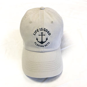 Life is Good Chill Cap Hat Anchor Fl Keys, Bone