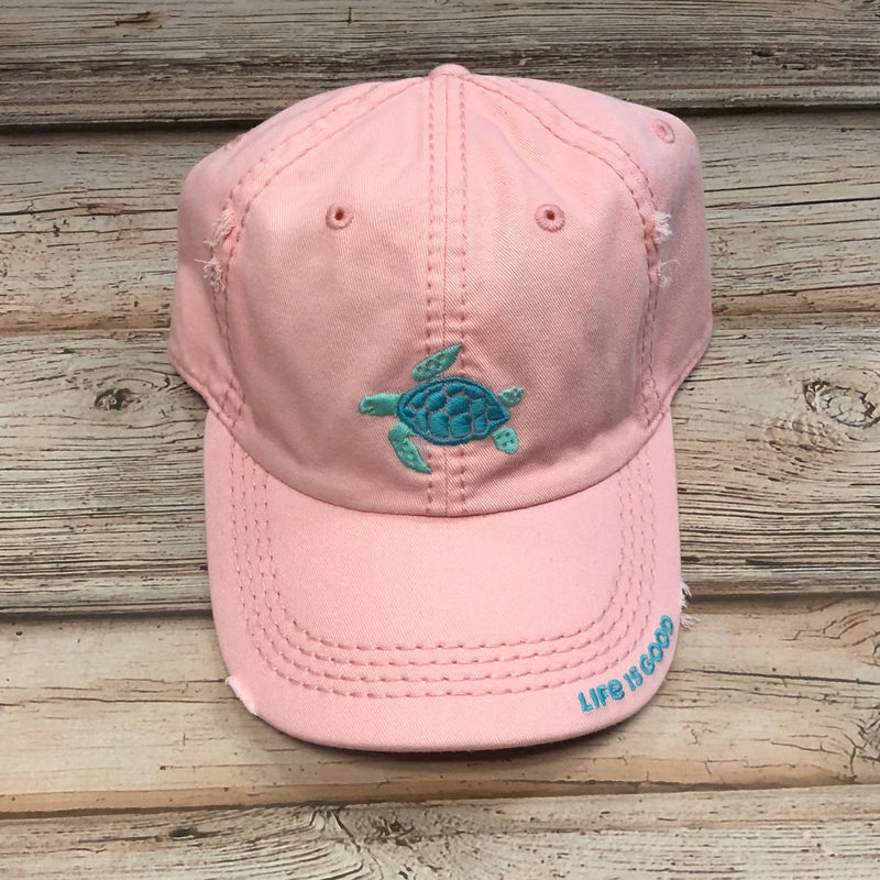 Life is Good Chill Cap Turtle, Pink