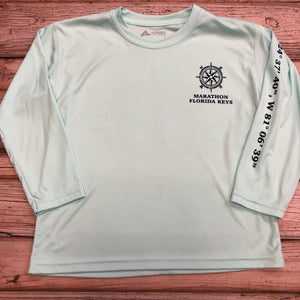 Short-Sleeved T-Shirts Youth Crewneck Fish and Hooks for Boys