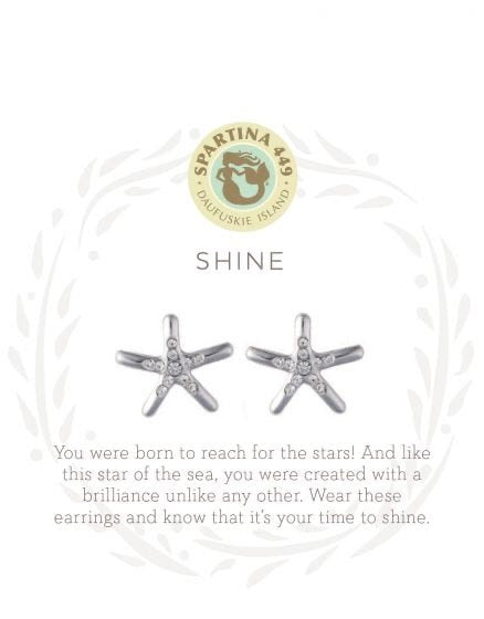 Spartina Shine Silver Post Starfish Earrings
