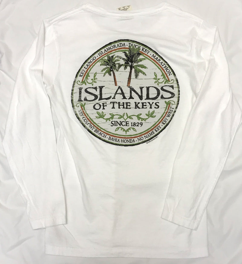 Islands of the Keys Long Sleeve T-Shirt, White