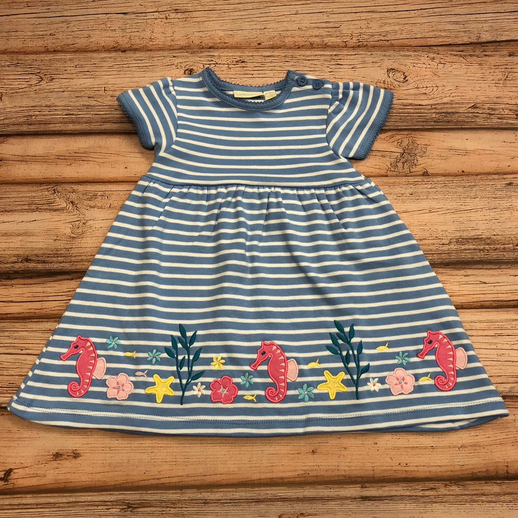 JoJo Blue Stripe Seahorse Dress