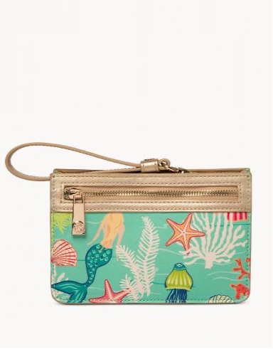 Spartina Golden Mermaid Wristlet, Aqua