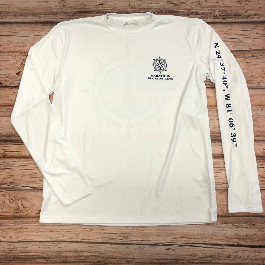 Sombrero Lighthouse Long Sleeve UPF 50+ , White
