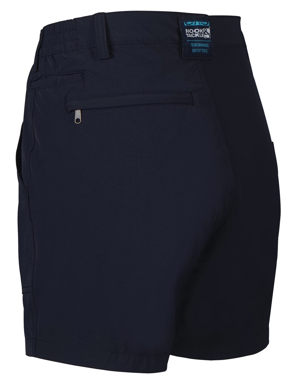 Beer Can Island Stretch Hybrid Fishing Short, Navy