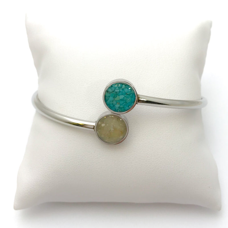 Dune Bypass Cuff, Turquoise & Sombrero Sand