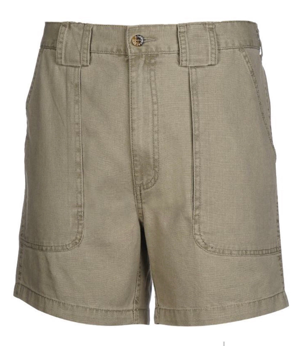Hook & Tackle Original Beer Can Island Fishing Short, Khaki