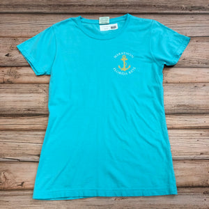 Women's Captain's Wife Rule T-Shirt, Lagoon