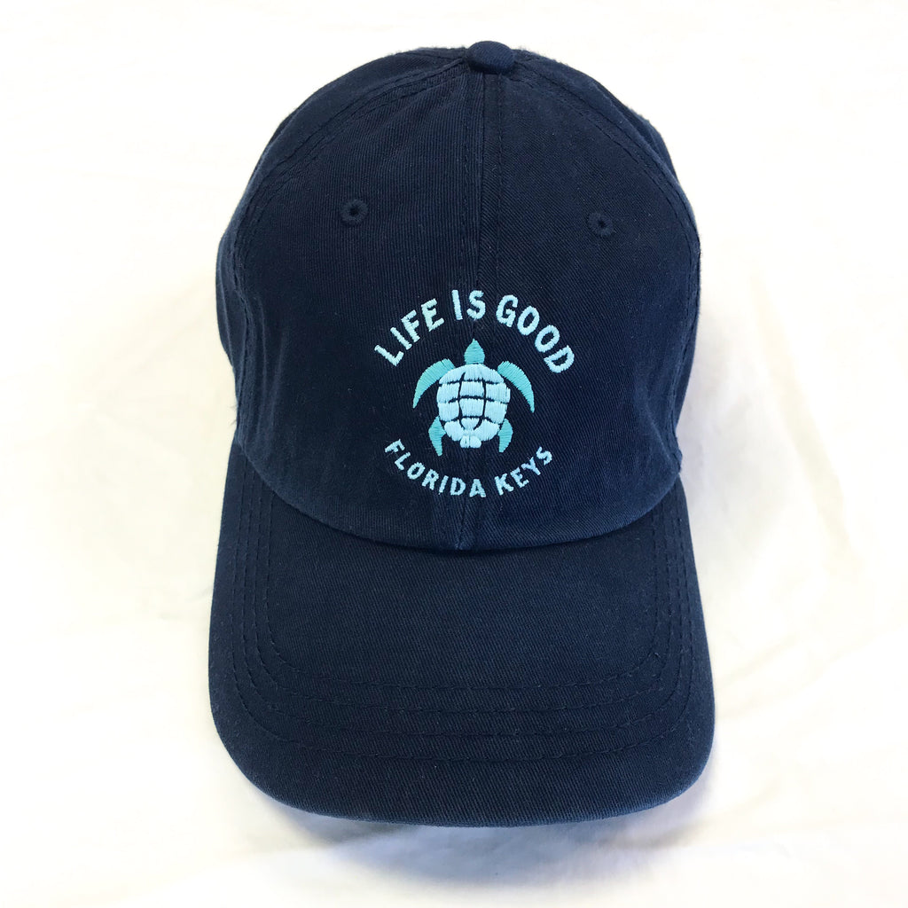 Life is Good Chill Cap Hat Turtle Fl Keys, Blue