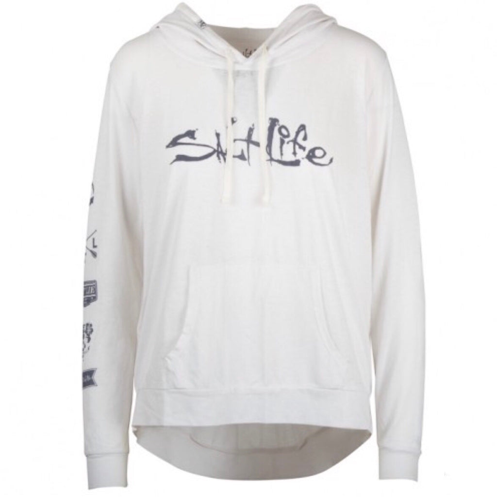 Salt Life Oasis Lightweight Pullover Hoodie, White